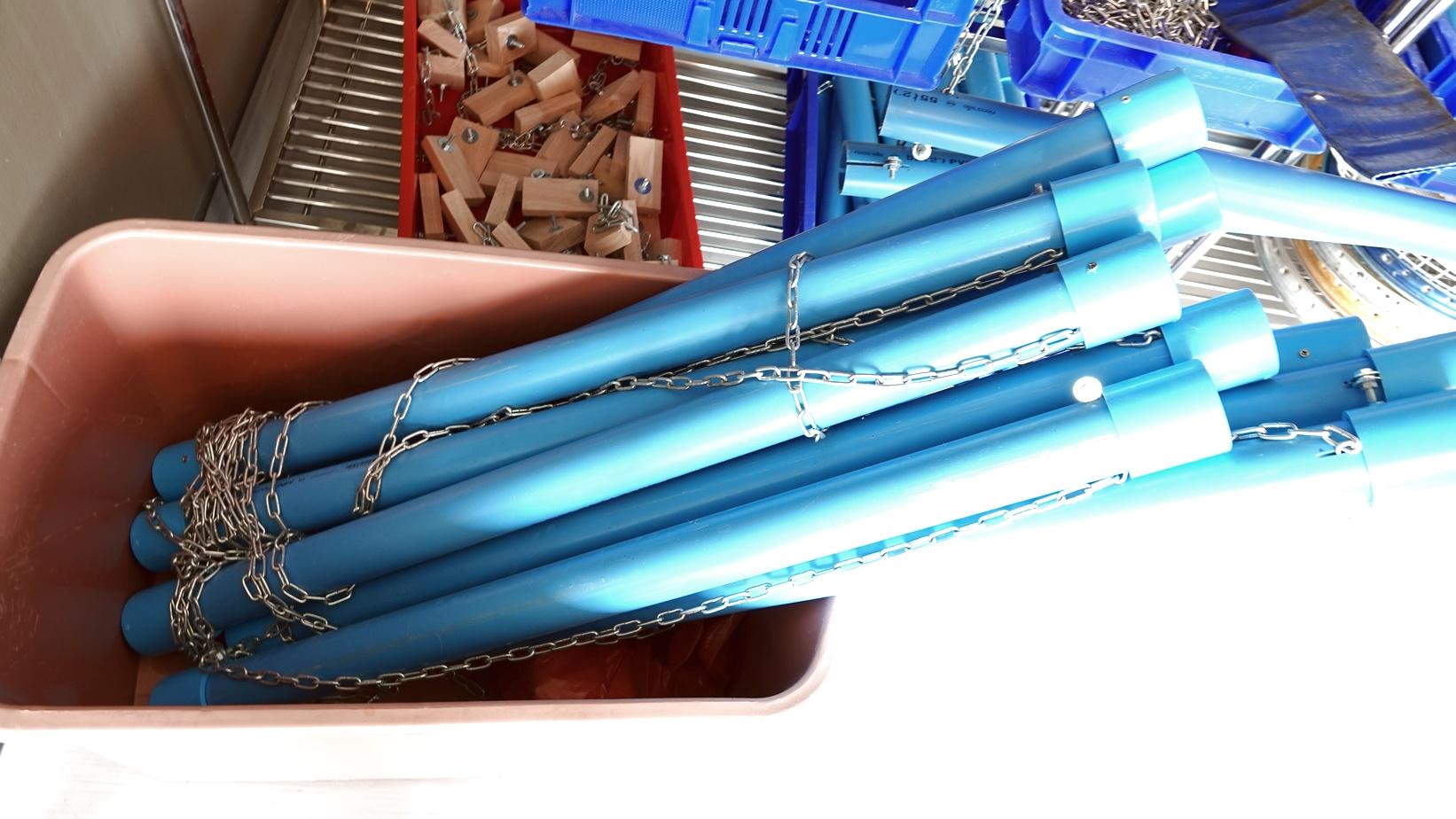 Home Essentials 11-inch High Modern Blue Hand Painted Pitcher